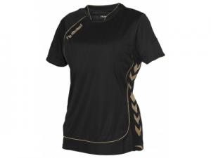 110600-8800 Tech Gold Shirt Ladies zwart