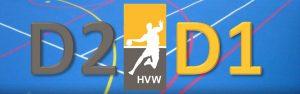 Oefenwedstrijd HVW D2 - HVW D1 @ Sporthal de Hoepel