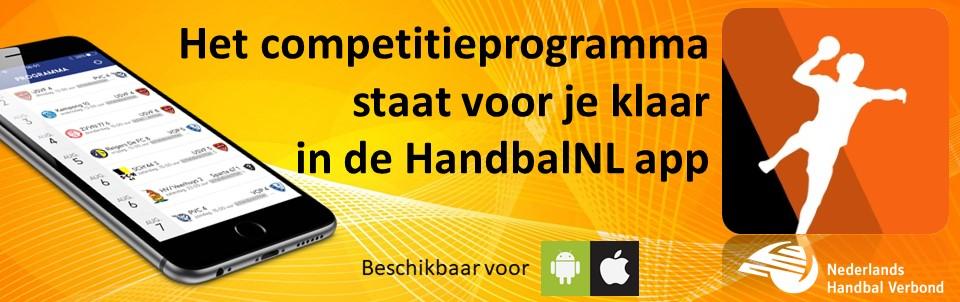 Het competitieprogramma staat voor je klaar in de HandbalNL app