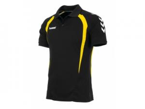 163111-8400 Team Polo zwart-geel