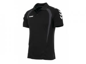 163111-8960 Team Polo zwart-grijs