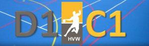 Oefenwedstrijd HVW D1 - HVW C1 @ Sporthal de Hoepel